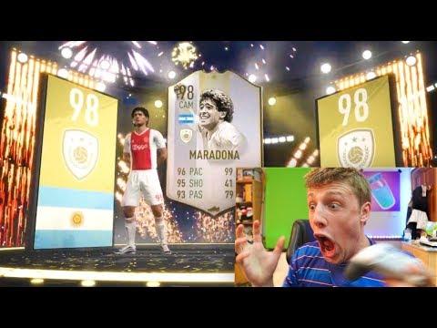 I PACKED MARADONA!!! - TEAM OF THE SEASON PACK OPENING FIFA 19