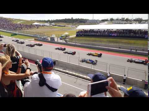Start Of the 2016 F1 American Grand Prix
