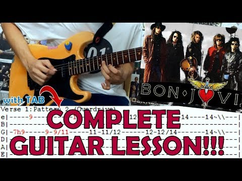I'll Be There For You -  Bon Jovi(Complete Guitar Lesson/Cover)with Chords And Tab