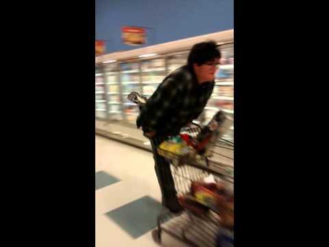 Supermarket speed skating