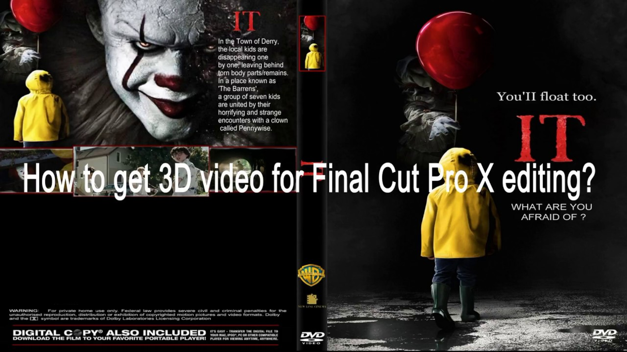 How to get 3D video for Final Cut Pro X editing? - YouTube