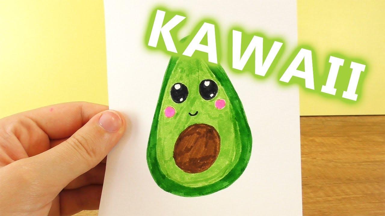 Avocado Diy Kawaii Zeichnen Niedliche Frucht Selber Machen