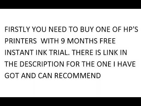 HP FREE 12 MONTHS (1YEAR) INSTANT INK OFFER PROMO REFERRAL CODE