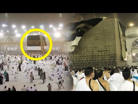 Video Detik-detik Kain Kiswah Kabah Tersingkap Akibat Badai Pasir yang Menerjang Makkah