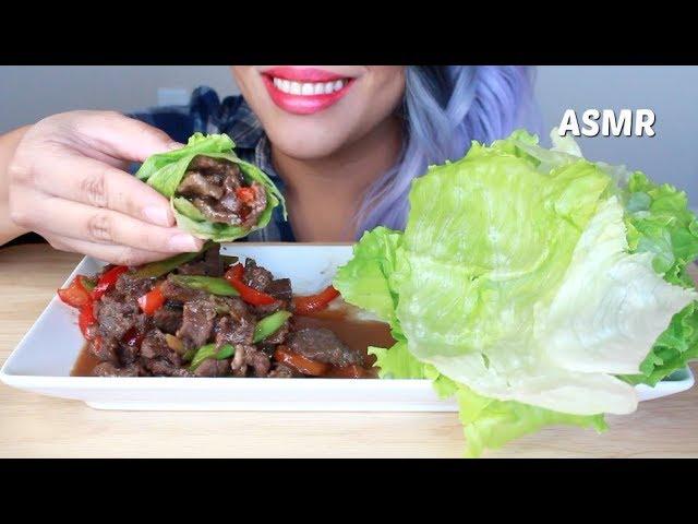 Roll Some Bulgogi Lettuce Wraps With Me Asmr Crispy Juicy Eating Sounds No Talking
