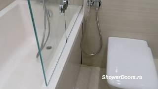 видео Стеклянные шторки для ванной