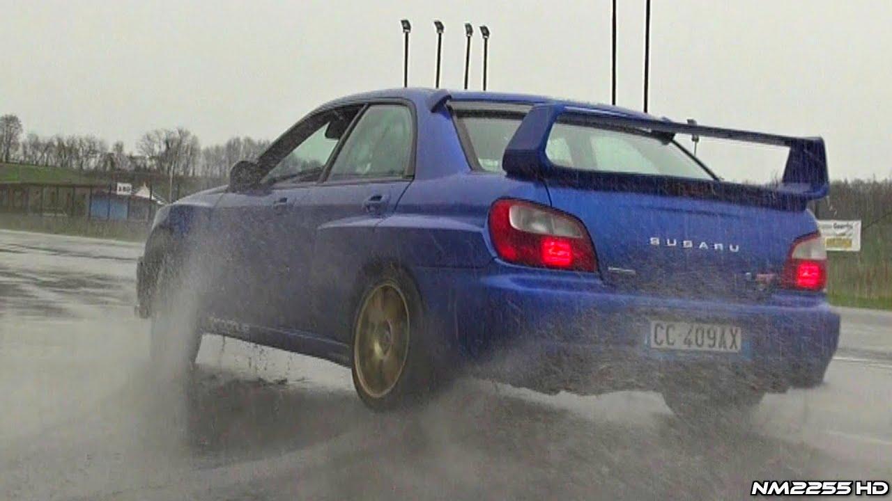 Modified Subaru Impreza Sti Powersliding On Wet Youtube