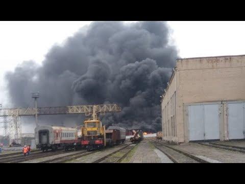 В Челябинске сгорел бензовоз