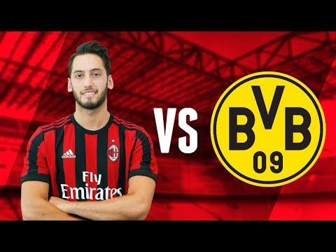 Hakan Çalhanoğlu vs  BVB Dortmund - Friendly Game | AC Milan | ICC 18-07-2017 | MilanActu HD