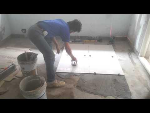 Floor Tile Installation Process - 60x60 cm polished tiles