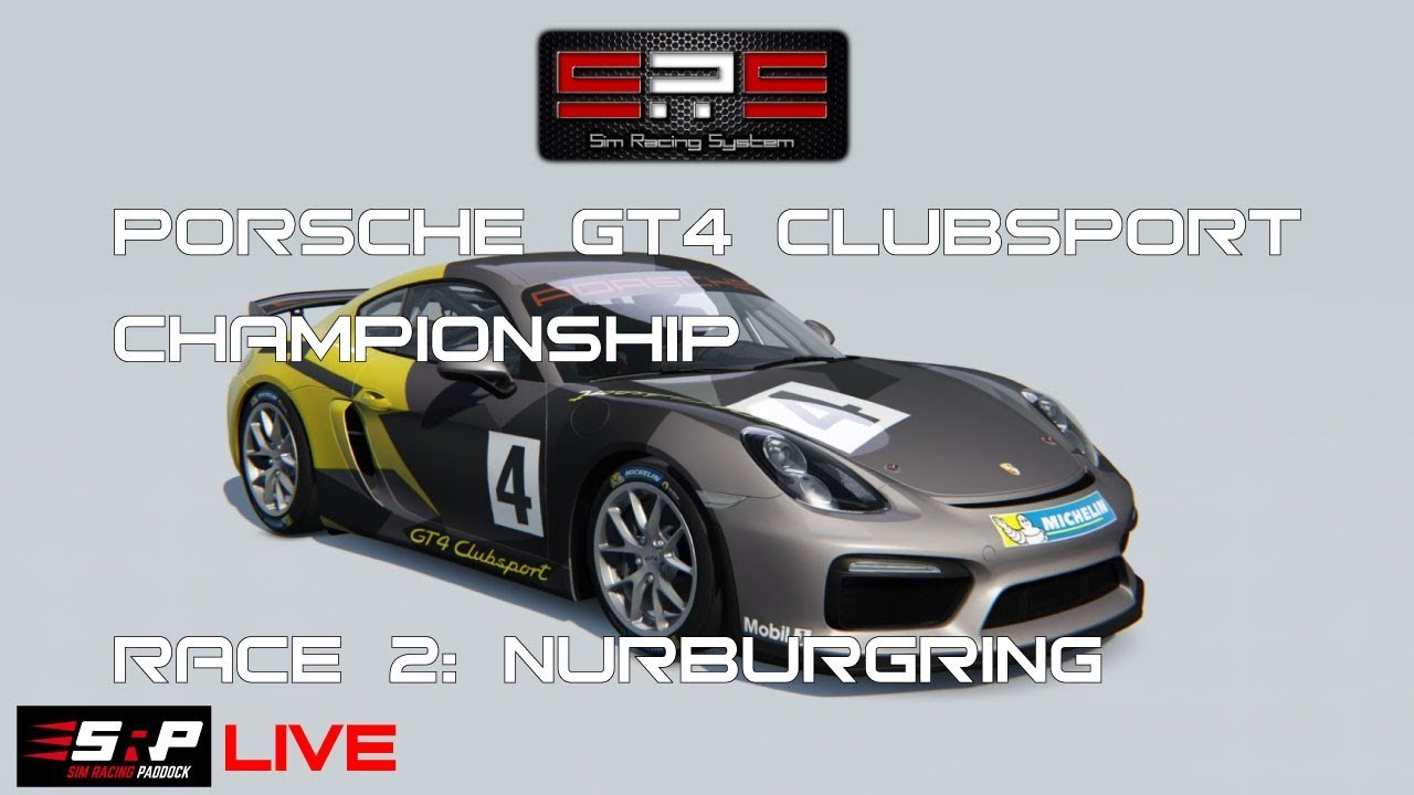 Sim Racing System Porsche Gt4 Clubsport Championship