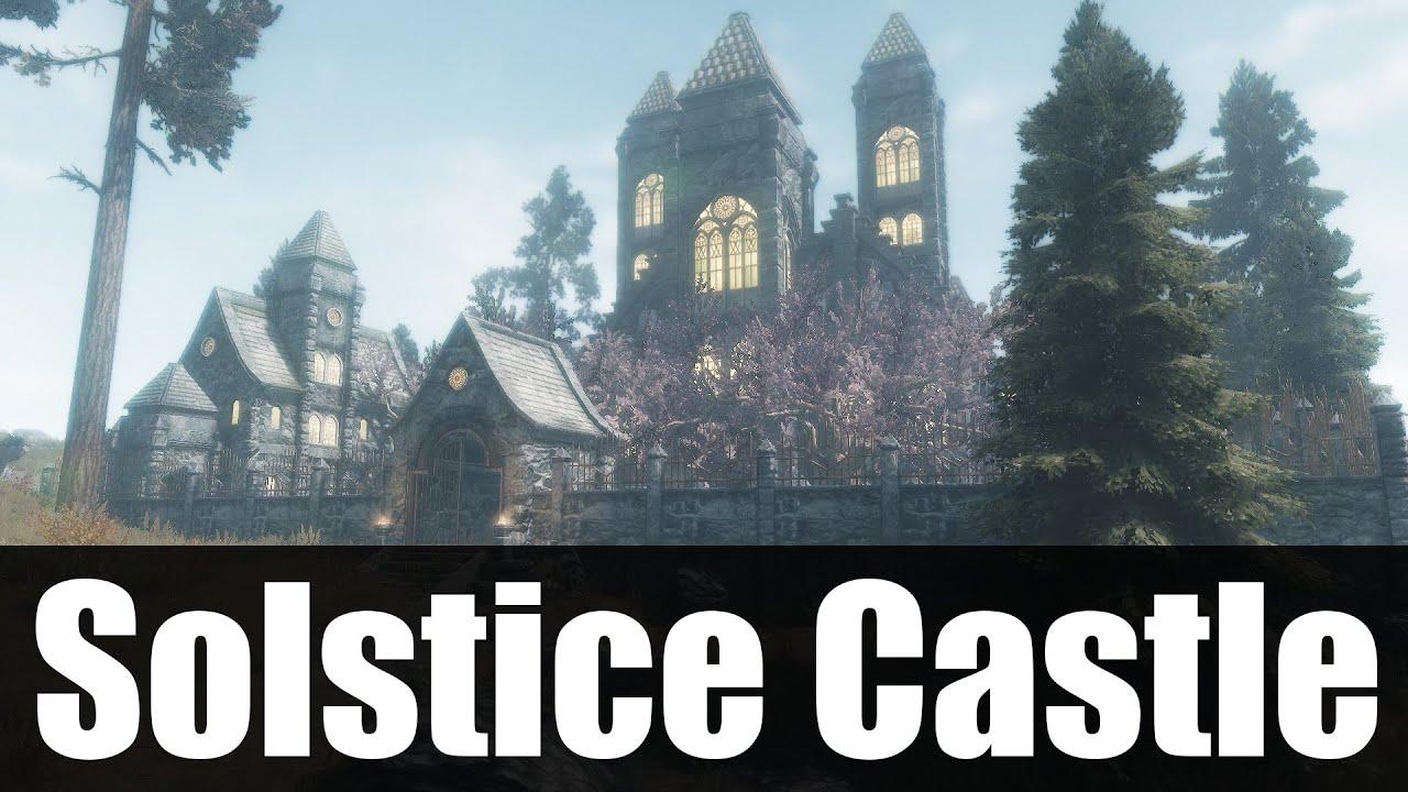 Skyrim mods solstice castle 4k hd youtube for Best house designs skyrim