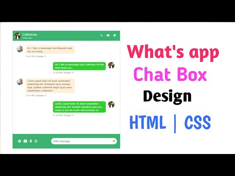 How To Create Message Chat Box Using HTML And CSS