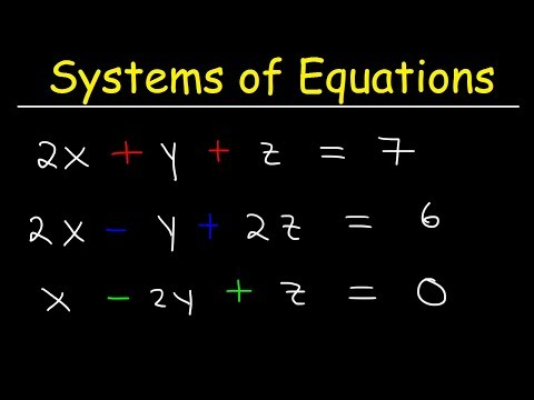 Solving Systems Of Equations With 3 Variables & Word Problems