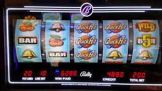 Quick Hit Fever Slot Machine Bonuses  With MAX BET !!! NICE WIN