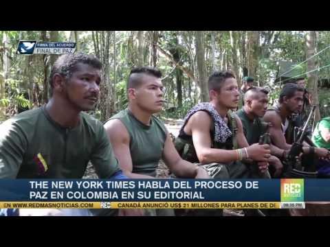 The New York Times habla del proceso de paz en Colombia en su editorial