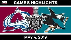 NHL Highlights | Avalanche vs. Sharks, Game 5 - May 4, 2019