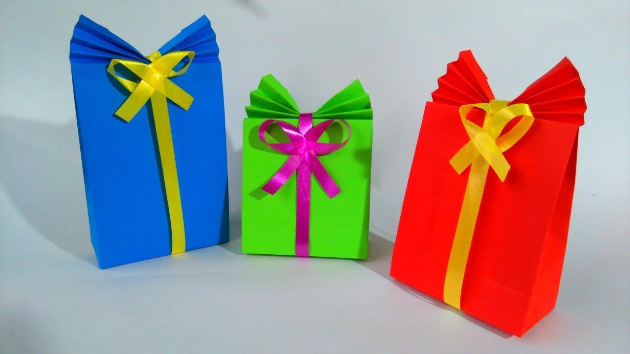 Bolsas de papel para regalo gift paper bag youtube - Hacer bolsas de papel para regalo ...