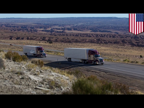 Platooning trucks to be introduced to US roads this year to save fuel and cut costs - TomoNews