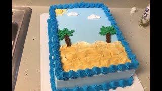 Pastel en forma de playa 😎 🏖