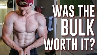 WAS THE BULK WORTH IT?  | Posing & My Current Physique Update