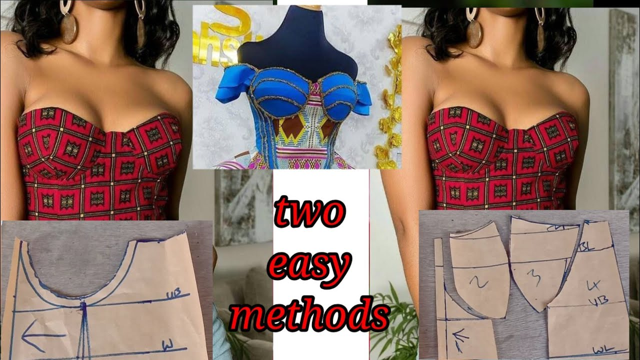 Download How to: cut a corset with bra cup/ pattern drafting/detailed tutorial