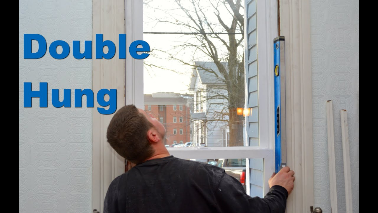 How To Install Double Hung Windows Youtube