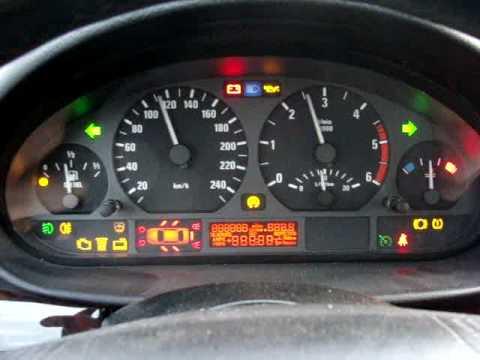 Kontrolki W Samochodzie >> E46 test wskaźników - YouTube