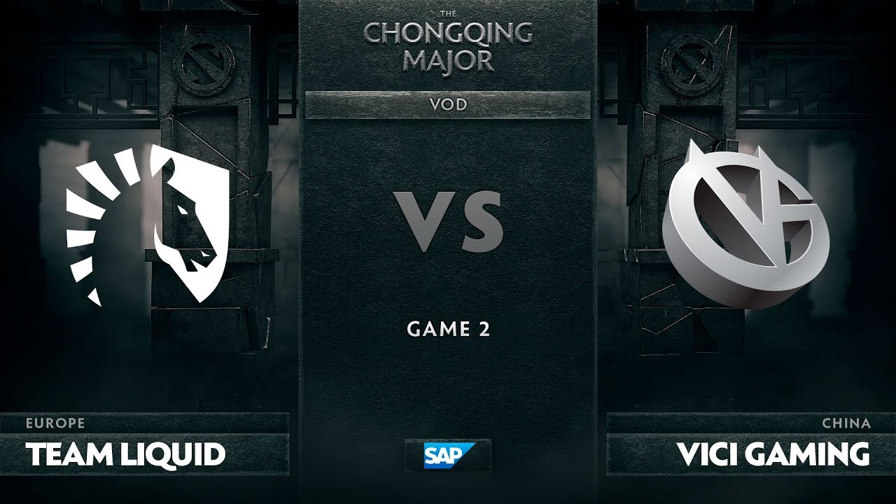 [EN] Team Liquid vs Vici Gaming, Game 2, The Chongqing Major Group C
