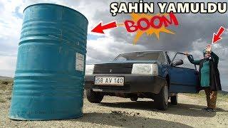 ARAÇ İle VARİLE ÇARPTIK !!! Car VS Barrel,TANK,BOTTLE,jerry can Experiment,