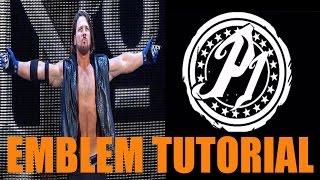 Siyah Öğretici 3 Amblemi Ops AJ Styles Olağanüstü Bir