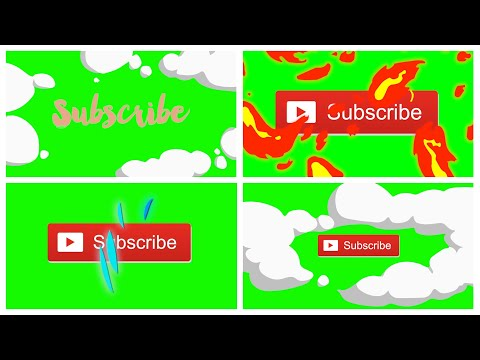 Animated YouTube Subscribe Button Green Screen Pack! (Free Download)