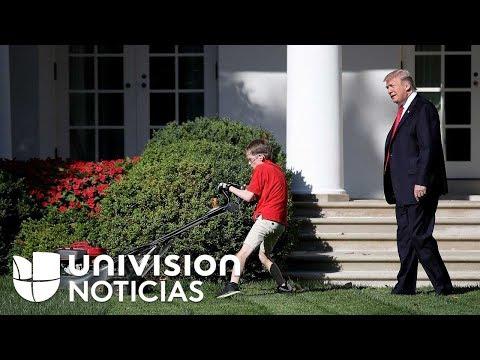 Este niño pidió cortar el césped de la Casa Blanca y ni el presidente lo distrajo