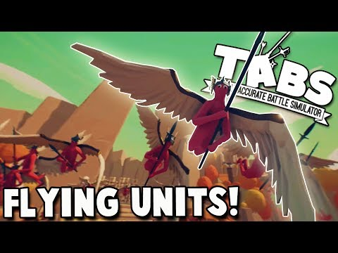 TABS NEW Flying Units - Flight of the Valkyries! (Totally Accurate Battle Simulator Gameplay)