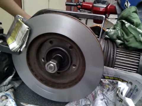 Lancer Front Disc Brake being Skimmed