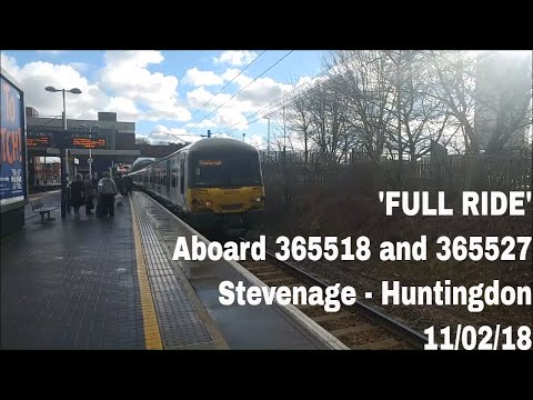*FULL RIDE* Aboard 365518 and 365527 from Stevenage to Hunti