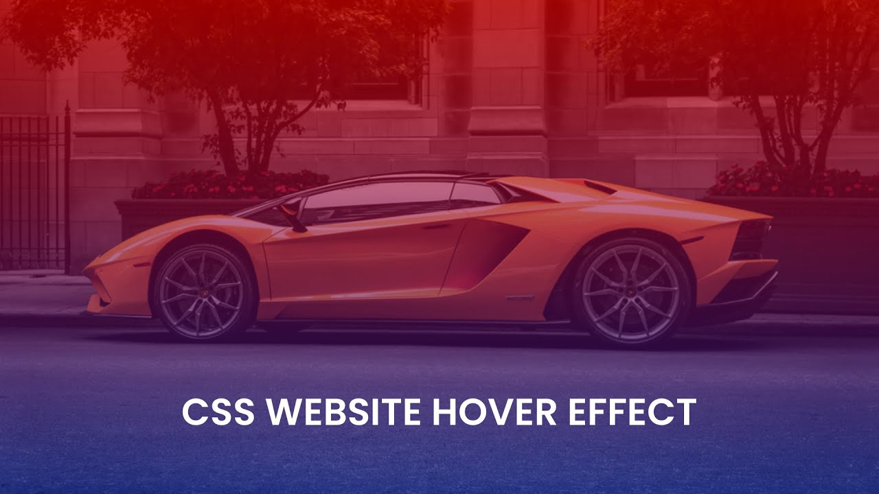 How To Add Gradient Color Hover Effect On HTML And CSS Website
