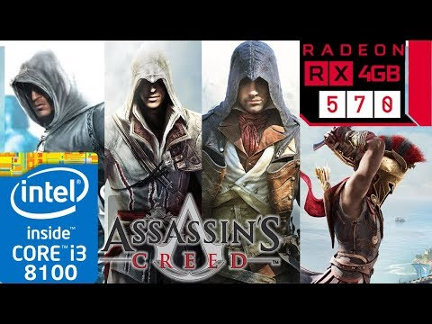 Assassin's Creed Franchise - RX 570 - 1 - 2 - 3 - 4 - Odyssey - Origins - Unity - Syndicate Tested thumbnail