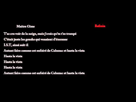 Maître Gims & L'Institut - Hasta La Vista [Lyrics]  Download MP3 
