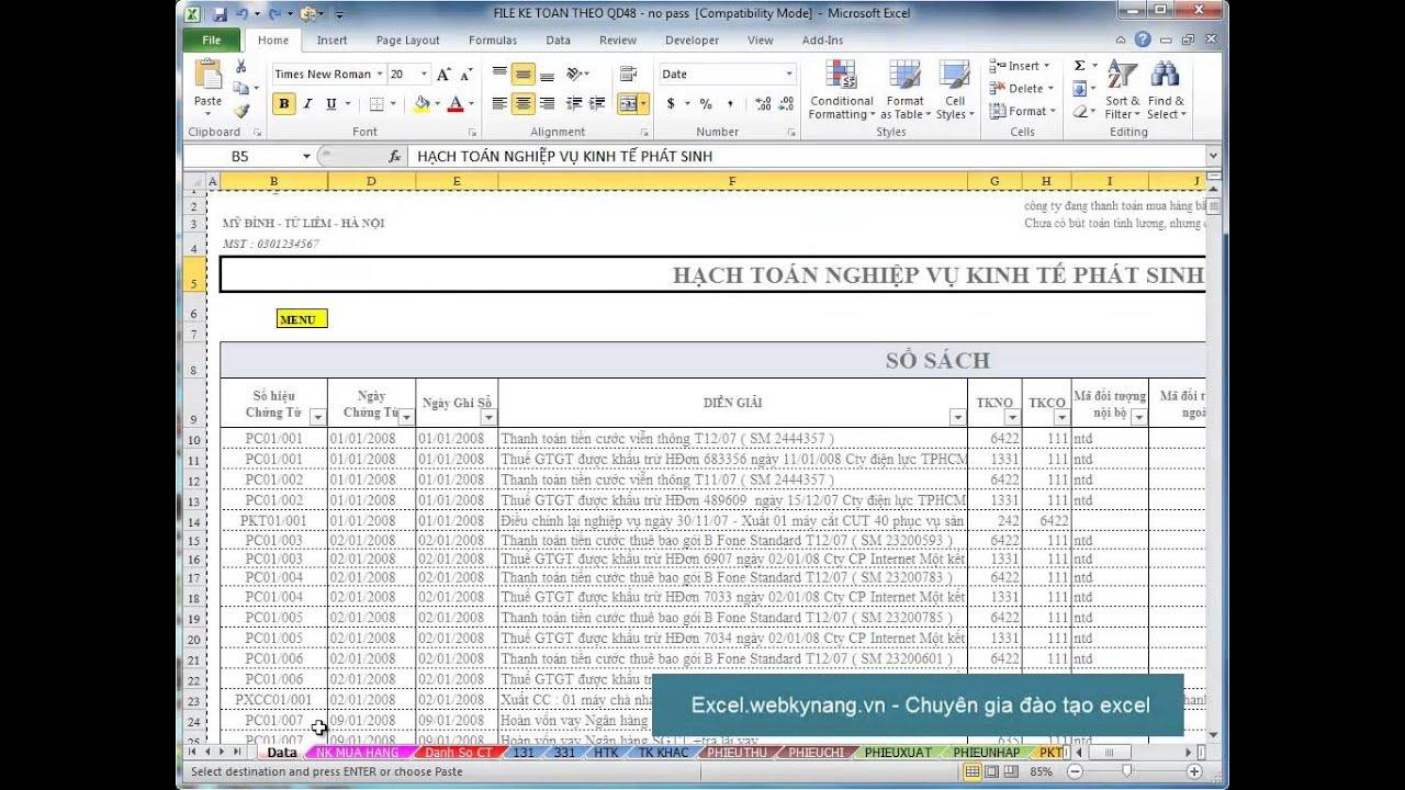 Hướng dẫn copy – move sheet trong excel