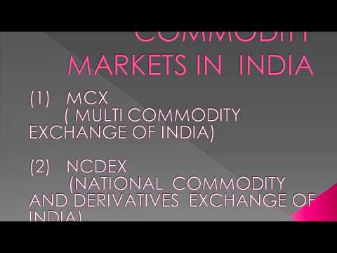 Basic things of commodity markets
