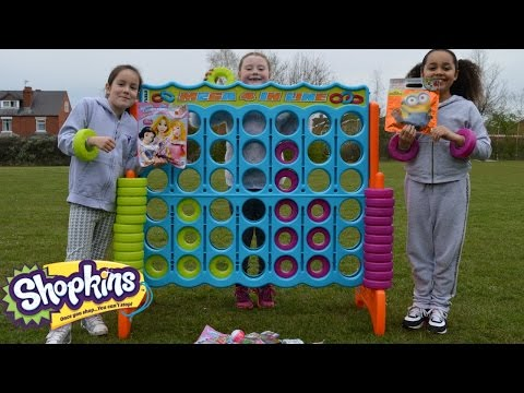 Thumbnail: Giant Connect 4 Toy Challenge | Shopkins | Spongebob | Blind Bag Prizes - Toys AndMe