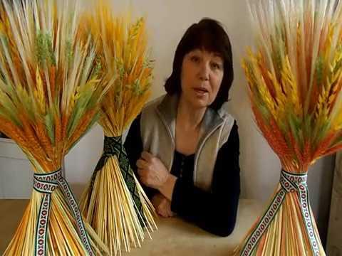Как сделать сноп из пшеницы своими руками