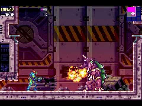 Metroid Fusion 1 No Damage Bosses Part Arachnus AKA Dat Morphball Boss