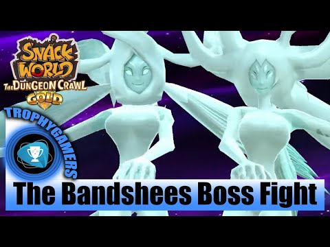 Snack World The Dungeon Crawl Gold - The Bandshees Boss Fight - No Commentary Gameplay Video