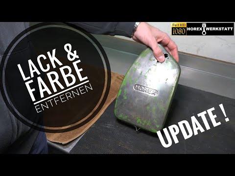 Alte Farbe & Lack entfernen mit Beize   Werkzeugbox Entlacken + Glasperlenstrahlen   #UPDATE
