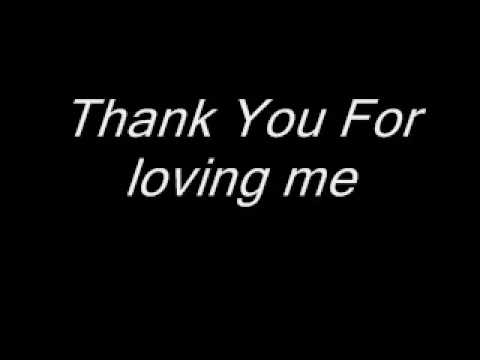 Bon Jovi - Thank You For Loving Me (Lyrics) - YouTube