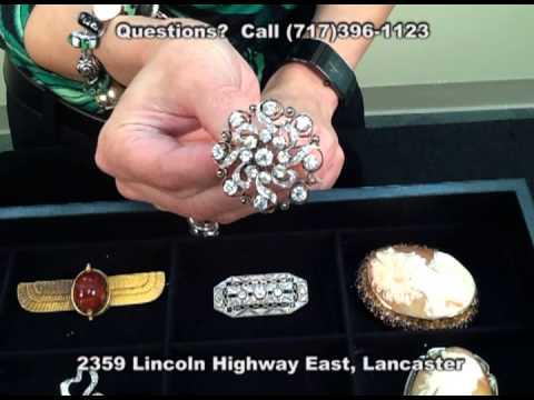 Antique Vintage Estate Jewelry Veleska Jewelry (Lancaster PA) Platinum 18k Brooch