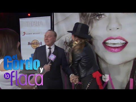 ¡Tommy Mottola sorprendió a Thalía en plena entrevista!