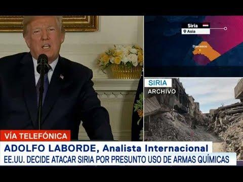 MOMENTO EXACTO Donald Trump Ataca Siria junto con Francia y Reino Unido
